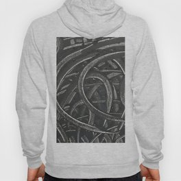 'Junction' Abstract Acrylic on Canvas Hoody