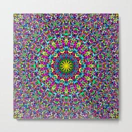 Bohemian Mandala Ornament Metal Print