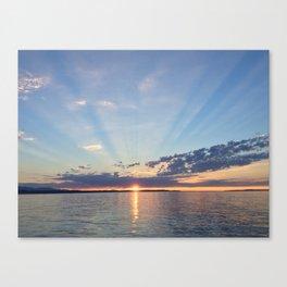 A Seattle Sunset Canvas Print