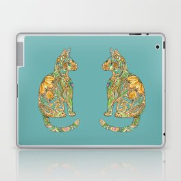 Calico Cat Blue Laptop & iPad Skin