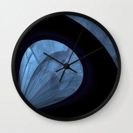 fractal: blue drop Wall Clock