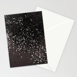 Blush Gray Black Lady Glitter #2 #shiny #decor #art #society6 Stationery Cards