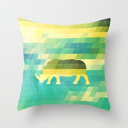 Orion Rhino Throw Pillow
