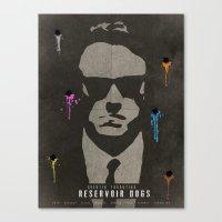 reservoir dogs Canvas Prints featuring Reservoir Dogs by Fan Prints