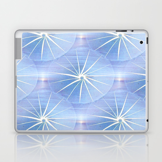 Paper Parasols (Blue) Laptop & iPad Skin by artisimo (LSK7741427) photo