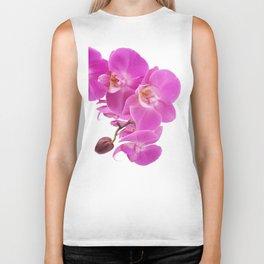 Pink orchid flowers Biker Tank