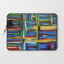 Abstract Art Blue Green Gold Laptop Sleeve