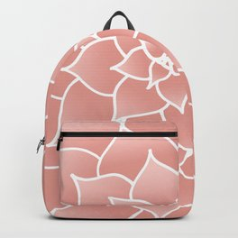 Abstract Modern Pink Rose Flower Backpack