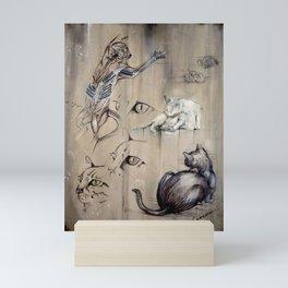 Felis catus Mini Art Print