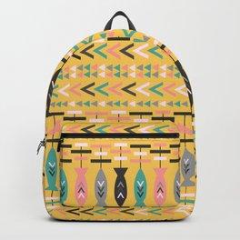 Fish aztec pattern- yellow Backpack