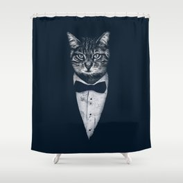 Mr Cat Shower Curtain