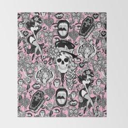 Pink Halloween Throw Blanket