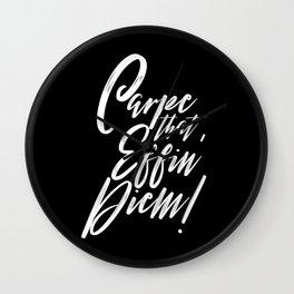 Carpe that Effin' Diem Wall Clock