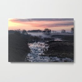 Foggy Sunrise At Chasewater Metal Print