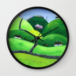 Hilly High Hills Wall Clock