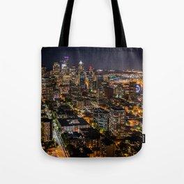 Seattle Nights Tote Bag