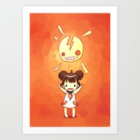 always sunny Art Prints featuring Sunny by Freeminds