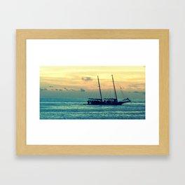 Sunset - Florida Keys Framed Art Print