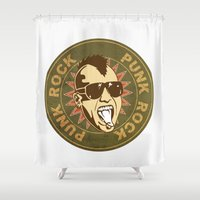 punk Shower Curtains featuring punk by mark ashkenazi