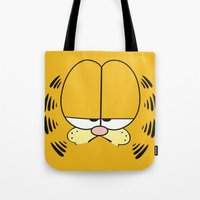garfield Tote Bags featuring Garfield Face by julien tremeau