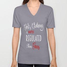 Girls Clothing is More Regulated Than Guns Unisex V-Neck