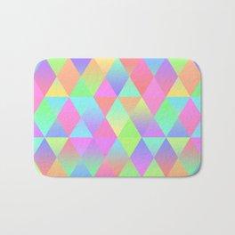 Colorful Geometric Pattern Prism Holographic Foil Triangle Texture Bath Mat