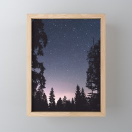 Starry Sunset | Nature and Landscape Photography Framed Mini Art Print