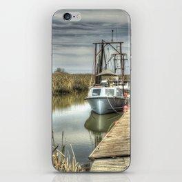 Boat in Marsh 3 iPhone Skin