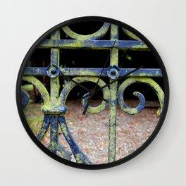 Heart and swirls Wall Clock