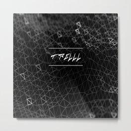 Trelll Tri-Grid - All-Over T-Shirt Metal Print