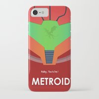 metroid iPhone & iPod Cases featuring Vector Metroid by LoweakGraph