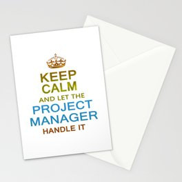 Let The Project Manager Handle it Stationery Cards