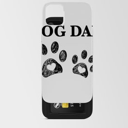 Paw print with hearts. Dog dad text. Happy Father's Day background iPhone Card Case