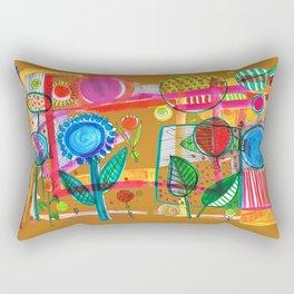 flowery abstact Rectangular Pillow