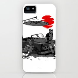 Bored in the car iPhone Case