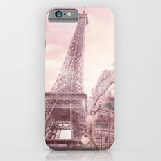 Paris Eiffel Tower Pink Carousel With Hearts Wall Art Prints and Home Decor Slim Case iPhone 6s