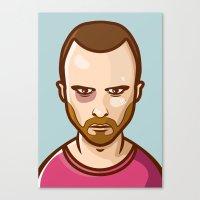 jesse pinkman Canvas Prints featuring Jesse Pinkman by Sherif Adel