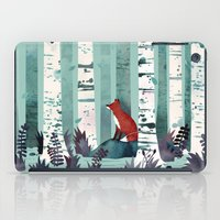 leaves iPad Cases featuring The Birches by littleclyde