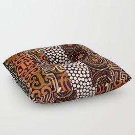 Geometric African Pattern Floor Pillow