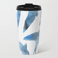 Watercolor birds - sapphire ink Travel Mug