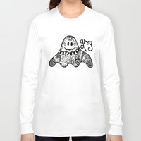 greg guillemin Long Sleeve T-shirts featuring Greg the Ghost by Wealie