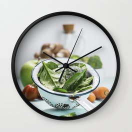 fresh vegetables Wall Clock