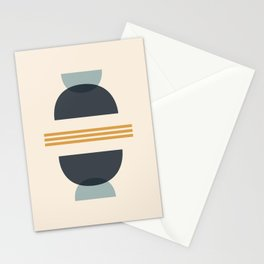 Sapphire Abstract Half Moon 2 Stationery Cards