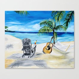 Beach Time with Martin Canvas Print