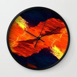 Spiral Fire Wall Clock