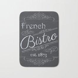 French Bistro 2 Bath Mat