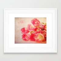 tulips Framed Art Prints featuring Tulips by Fine Art by Rina