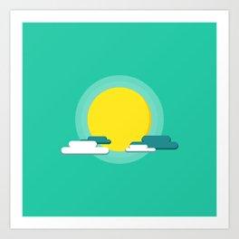 Flat Sunshine Art Print