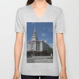 Philadelpha LDS Temple Unisex V-Neck