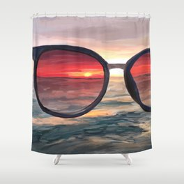 Shaded Key West Sunset Shower Curtain